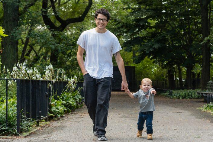 Jack with Dad - Joe Ligammari Photography
