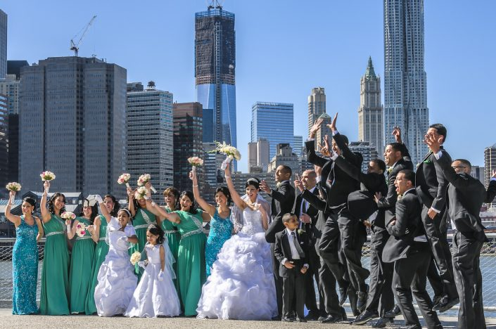 Brooklyn Bridge Park Wedding Jump - Joe Ligammari Photography
